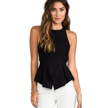 Backless Sexy Casual Blouse