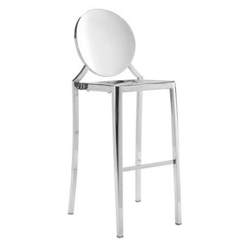 Eclispe Ghost Bar Chair Stainless Steel (Set Of 2)