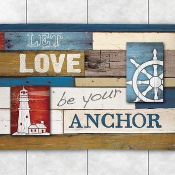 Nautical Anchor Inspiration Accent Rug