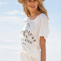 Wanderlust Slouchy Tee - Off White