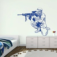 ik712 Wall Decal Sticker residents of the US Army rifle optical sight kids room