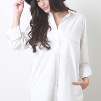 Classic Button Up Shirt Dress