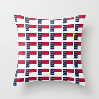 flag of  north carolina 2- south,america,usa,Old North State,Tar Heel,North Carolinian,Charlotte Throw Pillow by oldking