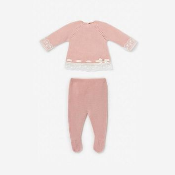 Paz Rodriguez Baby Girls' Pink Knitted Set