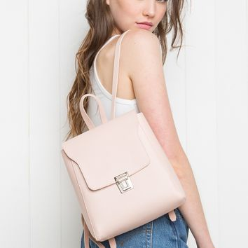 PINK BUCKLE BACKPACK