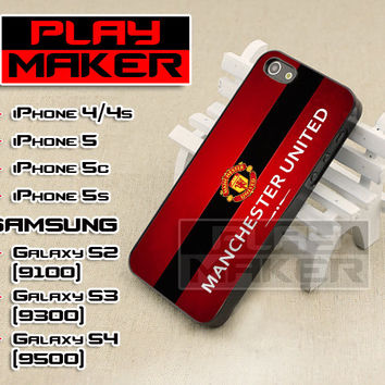 Manchester United The Red Logo - iPhone 4/4s, iPhone 5, 5s, 5c, Samsung Galaxys2, s3 and s4 Case