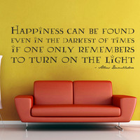 Happiness Can Be Found - Harry Potter Wall Decal
