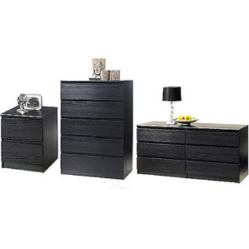 Walmart: Laguna Double Dresser, 5-Drawer Chest and Nightstand Set, Black Woodgrain