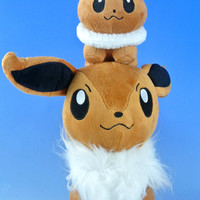 """Eevee Plush 2in1 (12""""inches + Cute) Doll Pokemon / Pocket Monster"""