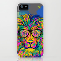 Hipster Lion iPhone & iPod Case by ZeebraPrint