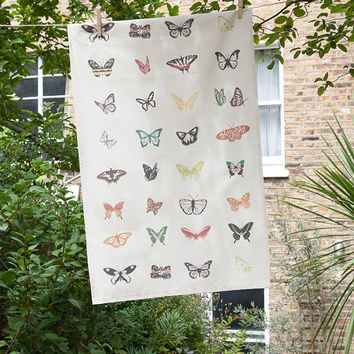 Butterfly Print Tea Towel – Space 1a – British Design -Organic -New home gift – Birthday – Kitchen – Gift for friend - Gift for cook - Dish
