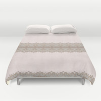 Damask Lace Pattern Duvet Cover by Nika In Wonderland