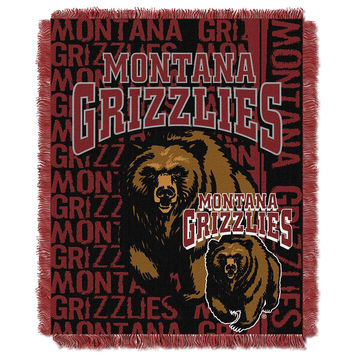 Montana Grizzlies NCAA Triple Woven Jacquard Throw (Double Play Series) (48x60)