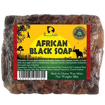 #1 Best Quality African Black Soap - Bulk 5lb Raw Organic Soap for Acne, Dry Skin, Rashes, Burns,...