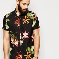 ASOS Shirt In Short Sleeve With Floral Print