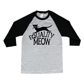 Equality Meow Cat, Halloween -- Unisex Long-Sleeve