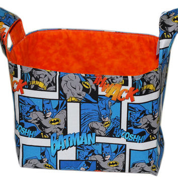 NEW Batman Storage Bin | DC Comics Superhero Fabric Basket | Boy's Room Storage | Nursery Storage