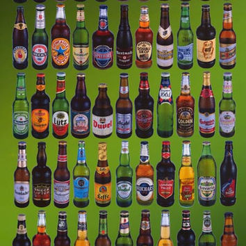Beers of the World Poster 24x36