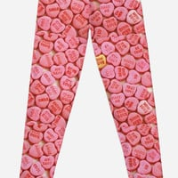 'Pink Candy Hearts' Leggings by phantastique