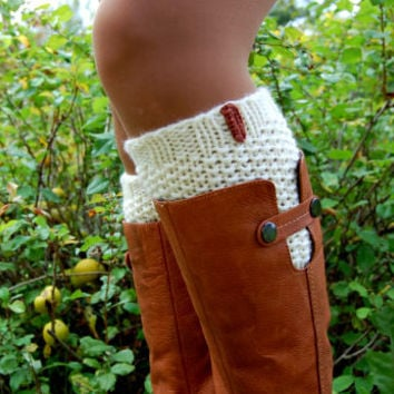 Knitted Boot Cuffs, Hand knit Boot Cuffs, Wool Boot Cuffs, Knitted Boot Cuffs for Women, Knitted Leg warmer, Womens Boots Socks
