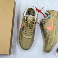 OFF-WHITE x Nike Air Max 90 Army Green Sneaker Shoes