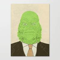 Young Professional from the Black Lagoon Stretched Canvas by Chase Kunz