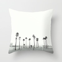 Bleached Beach Throw Pillow by RichCaspian