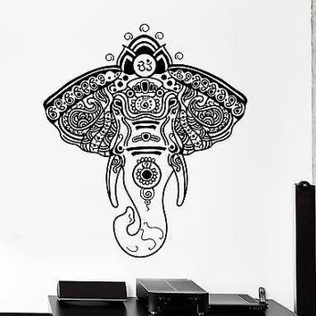 Wall Vinyl Elephant African Animals Ornament Mural Vinyl Decal Unique Gift (z3351)
