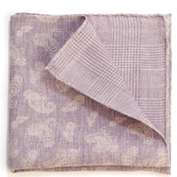 Kasmir-Linen Cotton Double Face Pocket Square