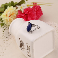 free shipping New Vampire Diaries Elena same paragraph anti-sun cat rhinestone crystal ring #3236