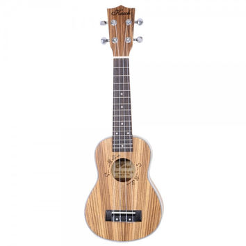 "21"" Zebra Wood Concert Ukulele Wood Color"