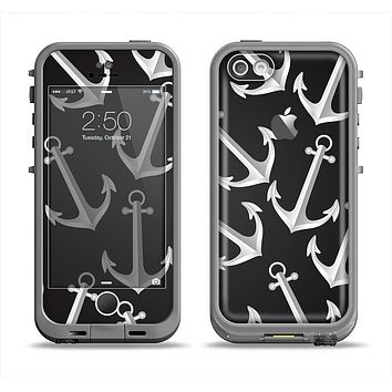The Black Anchor Collage Apple iPhone 5c LifeProof Fre Case Skin Set