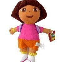 "Dora the Explorer Large 15"" Plush Doll Wearing Mr. Purple Backpack"