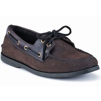 Men's Authentic Original Boat Shoe in Brown Buc by Sperry