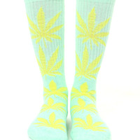 PASTEL GREEN PLANTLIFE SOCKS