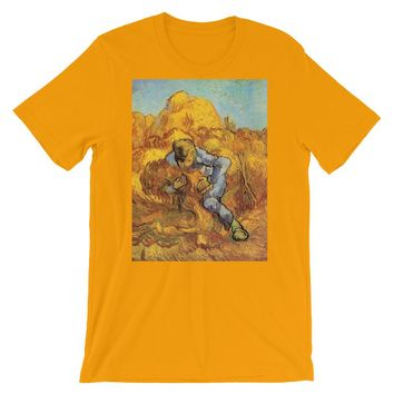 Vincent Van Gogh Man in Field Short-Sleeve Unisex T-Shirt