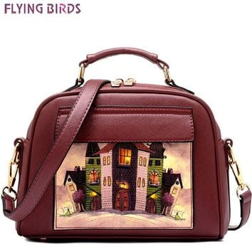 FLYING BIRDS women bag women leather handbag brand shoulder bag messenger bags bolsos European and American Style purse LS8235fb