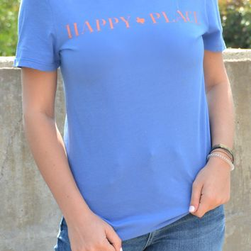 Happy Place Tee - Blue