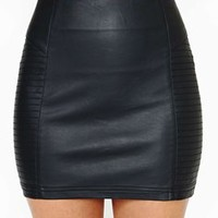 Nasty Gal Faux Leather Right Side Mini Skirt 43% off retail