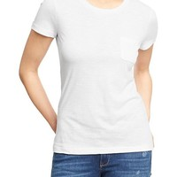 Women's Slub-Knit Crew Pocket Tees