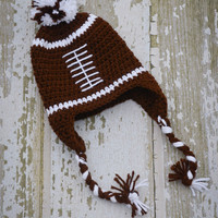 crochet football hat hat for boy crochet boy by stitchesbystephann
