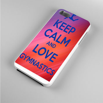 keep calm and love gymnastics art Iphone 5s Case
