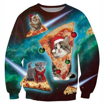Holiday Pizza-Cat Sweater