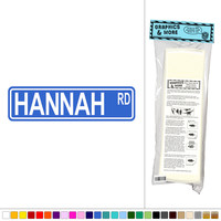 Hannah Street Sign Wall Vinyl Art
