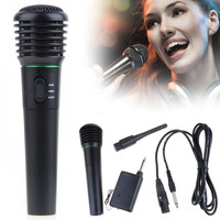 2in1 Wired Wireless Handheld Microphone Mic Receiver System Undirectional D_L = 1713246788