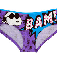Peanuts Snoopy BAM! Purple and Blue Panty for Women P