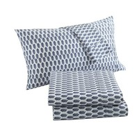 LUX-BED 4-Piece Peridot NEW!! LUX-BED COLLECTIONS!! 100% Cotton 300 Thread Count Pepper Corn patterned Oversized King Sheet Set Navy - Walmart.com