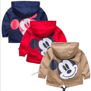 cute baby kid sweatshirt coat cartoon mickey costume coat for 1-5years children little boys girls outerwear clothes