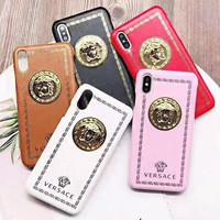 Versace New fashion human head couple protective cover iphone phone case