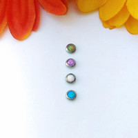 Opal Cabochon Dermal anchor top 4mm Body Piercing Jewelry microdermal